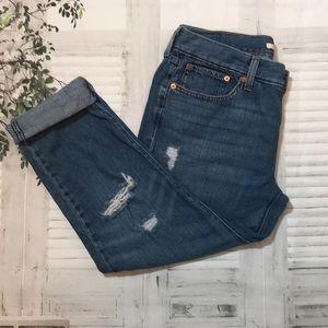 Levi's distressed boyfriend tapered jeans sz 29